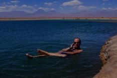 La photo traditionnelle. On flotte comme dans la mer morte!