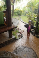 Le jour du déluge... Escaliers transformés en torrents.