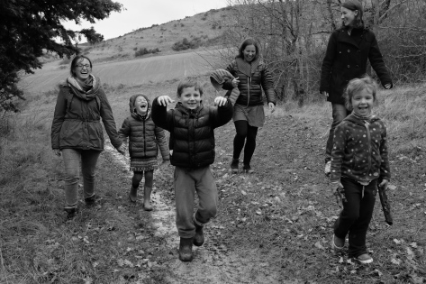 En famille dans les collines de Laval-Bassette
